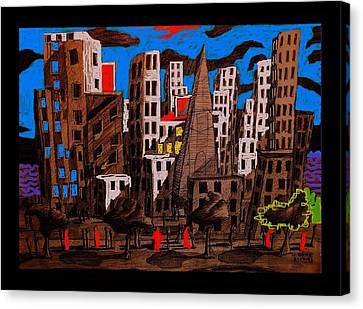 City - Abstraction Canvas Print