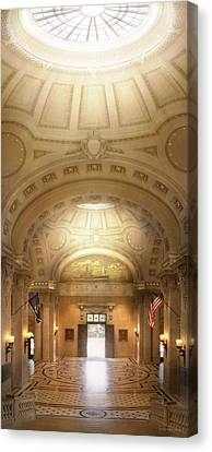 Canvas Print featuring the photograph City - Annapolis Md - Bancroft Hall by Mike Savad