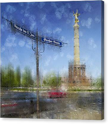 City-art Berlin Victory Column Canvas Print by Melanie Viola