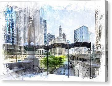 City-art Chicago Downtown I Canvas Print by Melanie Viola