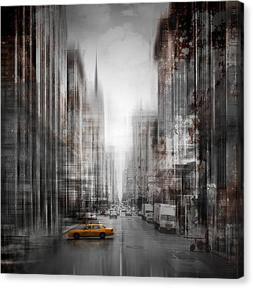City-art Nyc 5th Avenue Canvas Print by Melanie Viola