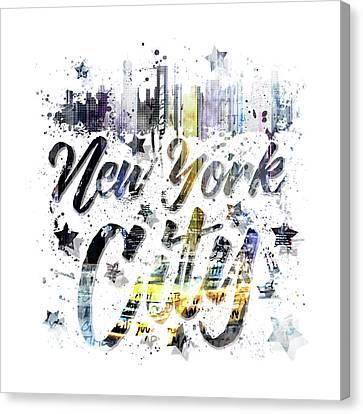 City Art Nyc Collage - Typography Canvas Print