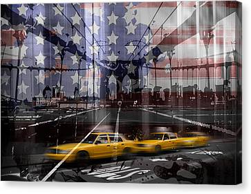 Patriotism Canvas Print - City-art Nyc Composing by Melanie Viola