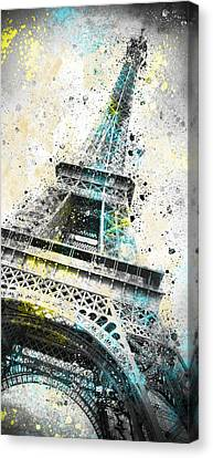 Broadcast Canvas Print - City-art Paris Eiffel Tower Iv by Melanie Viola