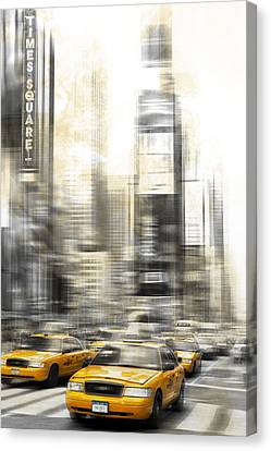 City-art Times Square Canvas Print by Melanie Viola