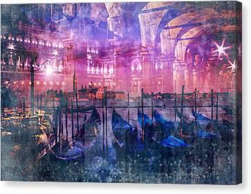 City-art Venice Composing Canvas Print by Melanie Viola
