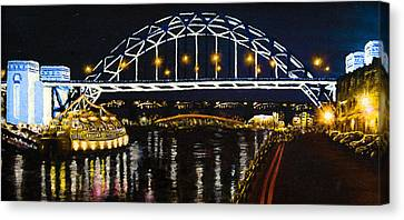 City At Night Canvas Print by Svetlana Sewell
