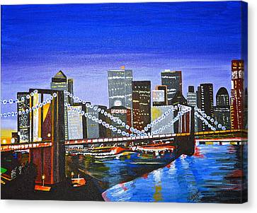 City At Twilight Canvas Print