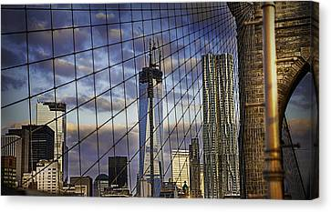City Between The Bridge Canvas Print