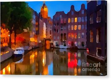 City Block 900 Soft And Dreamy In Thick Paint Canvas Print