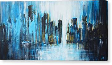 City Blues Canvas Print by Theresa Marie Johnson