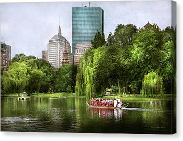 City - Boston Ma - Boston Public Garden Canvas Print by Mike Savad