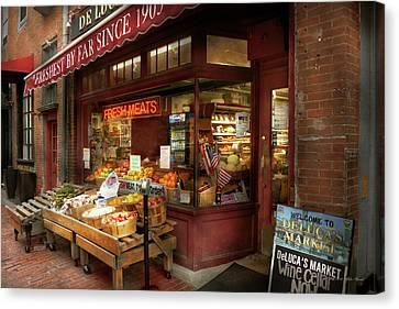 City - Boston Ma - Fresh Meats And Fruit Canvas Print