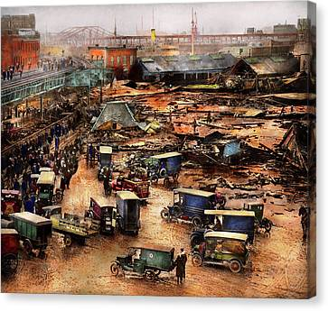 Canvas Print - City - Boston Ma - The Great Molasses Flood 1919  by Mike Savad