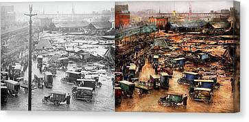 Canvas Print - City - Boston Ma - The Great Molasses Flood 1919  - Side By Side by Mike Savad