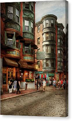City - Boston Ma - The North Square Canvas Print by Mike Savad