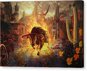 City Bull City Canvas Print