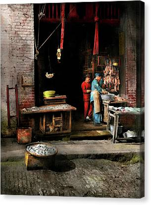 City - California - Fish Alley Smells Fowl 1886 Canvas Print by Mike Savad
