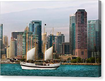 City - Chicago - Cruising In Chicago Canvas Print by Mike Savad