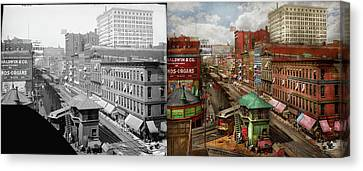 Canvas Print - City - Chicago - Piano Row 1907 - Side By Side by Mike Savad