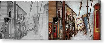 City - Cleveland Oh - Open House 1913 - Side By Side Canvas Print by Mike Savad