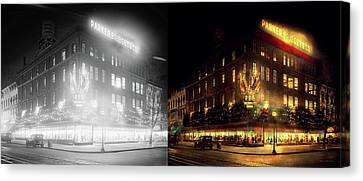 City - Dc - Parker And  Bridget Co 1921 - Side By Side Canvas Print by Mike Savad
