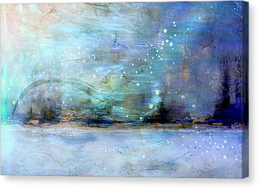 Canvas Print featuring the digital art City Dream by Linda Sannuti