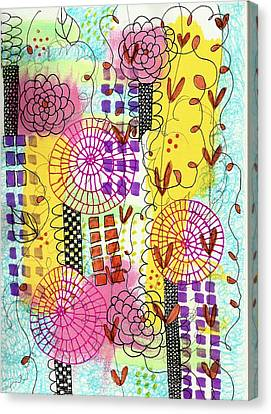 City Flower Garden Canvas Print