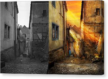 City - Germany - Alley - The Farmers Wife 1904 - Side By Side Canvas Print