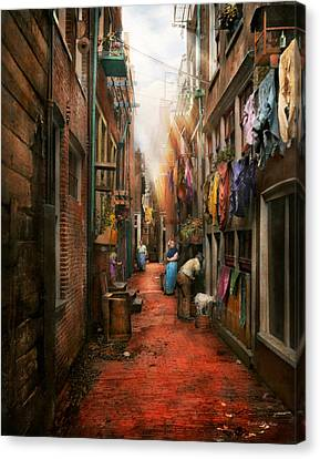 City - Germany - Alley - The Other Half 1904 Canvas Print