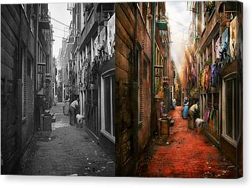 City - Germany - Alley - The Other Half 1904 - Side By Side Canvas Print