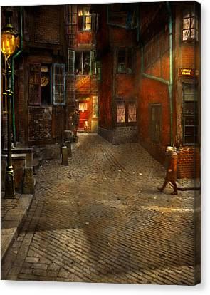 City - Germany - On A Corner Street 1904 Canvas Print