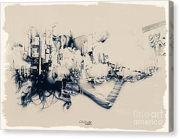 City Girl Dreaming Canvas Print