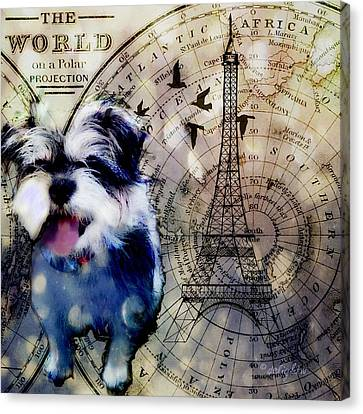 City Girl Goes To Paris Canvas Print