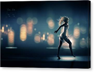 Long Street Canvas Print - City Girl by Johan Swanepoel