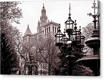 Hall Canvas Print - City Hall by Az Jackson
