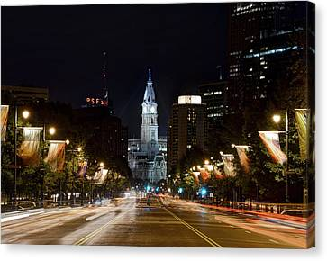 City Hall From The Parkway Canvas Print by Jennifer Ancker
