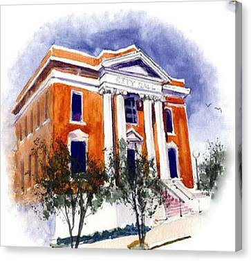 City Hall  Hattiesburg  Mississippi Canvas Print by Bobby Walters