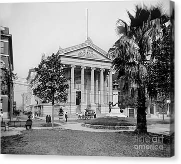 City Hall  Lafayette Square, New Orleans 1890 Canvas Print