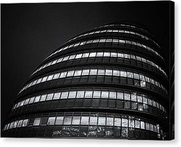 Business Plan Canvas Print - City Hall London by Martin Newman