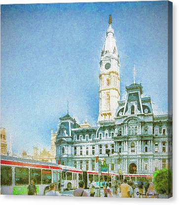City Hall Canvas Print by Marvin Spates