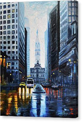 City Hall Philadelphia 2016 Canvas Print by Timothy Caison