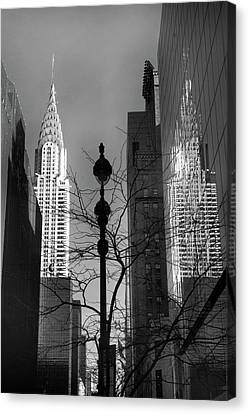 Manhatten Canvas Print - Chrysler Reflections by Jessica Jenney