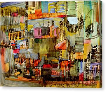 City Life  Canvas Print by Nancy Kane Chapman