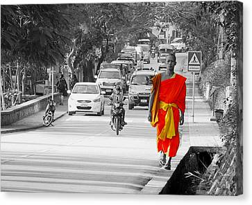 City Life In Laos Canvas Print by Ryan Scholl