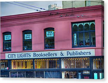City Lights Booksellers Canvas Print
