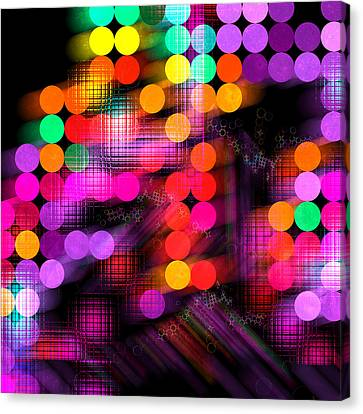 Canvas Print featuring the digital art City Lights by Fran Riley