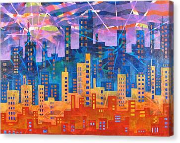 City Lights Canvas Print by Rollin Kocsis