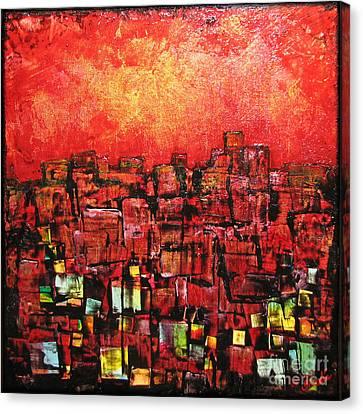 City Lights Canvas Print by Shadia Derbyshire