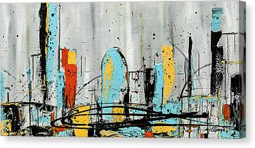 Canvas Print featuring the painting City Limits by Carmen Guedez